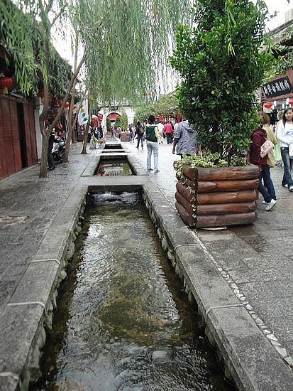 Old Town willows & gurgling water