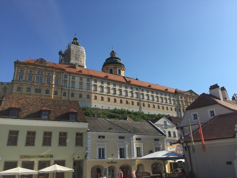 Looms over the village of Melk