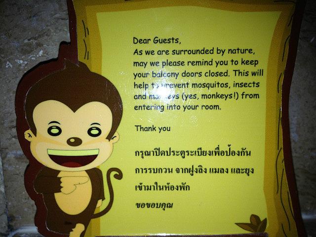 Monkey warning sign