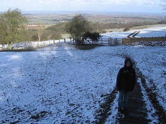 Very snowy downhill
