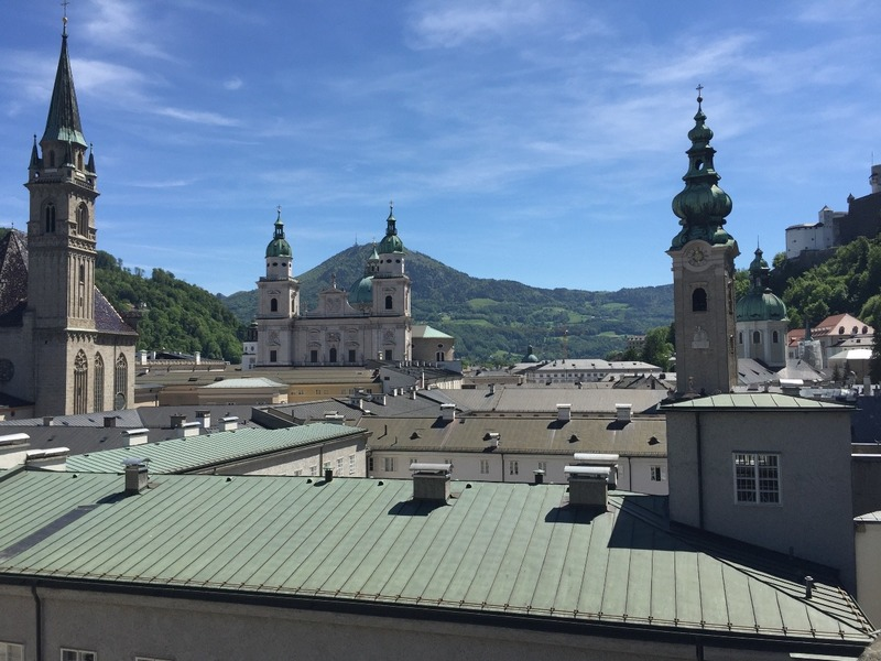 Some of the spires of Salzburg