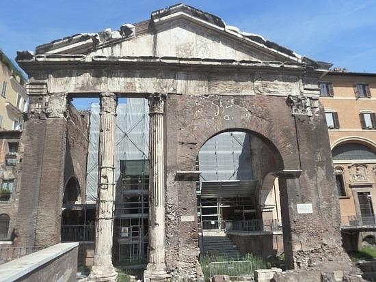 ancient ruins in Jewish Ghetto