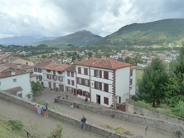 Looking down at our albergue