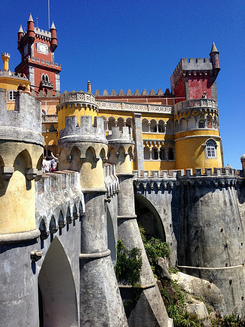 Yellow and red walls of Pena Palace