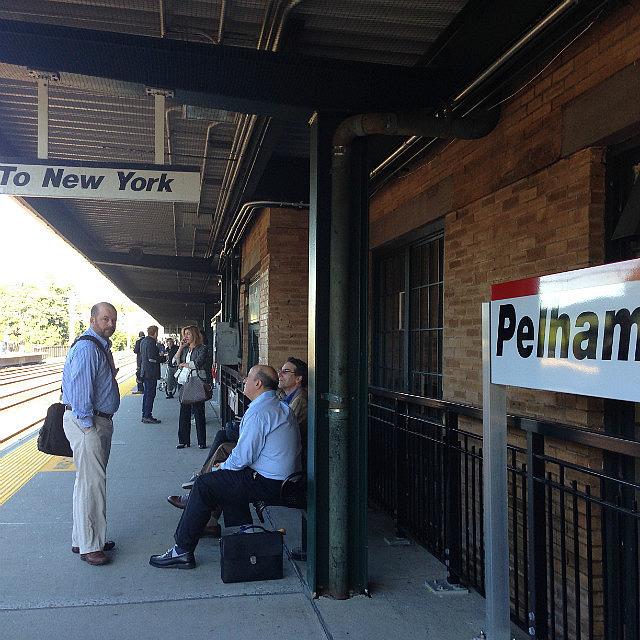 Pelham Station  catching train to NYC