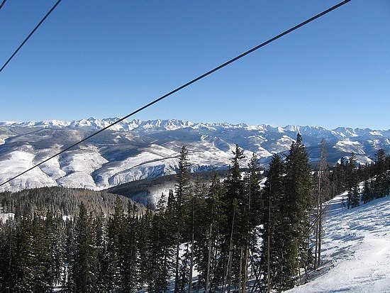 Beautiful view from the lifts