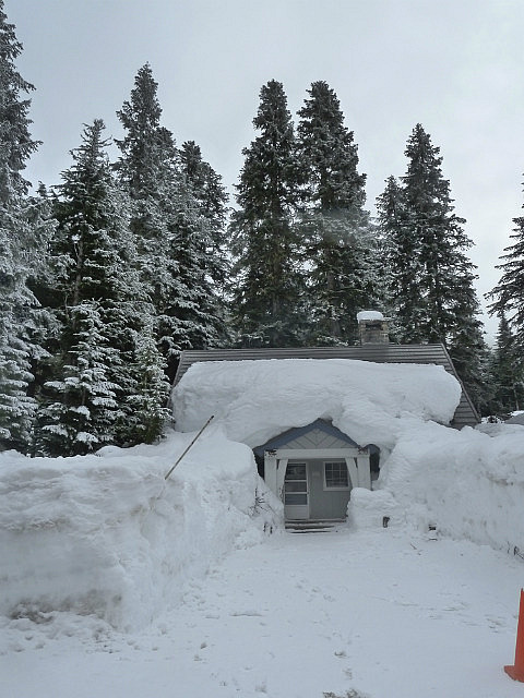 House buried in snow
