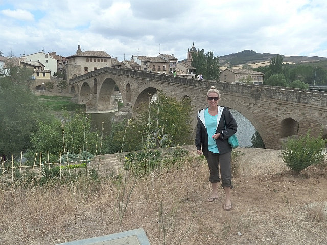 The old bridge in Puente La Reina