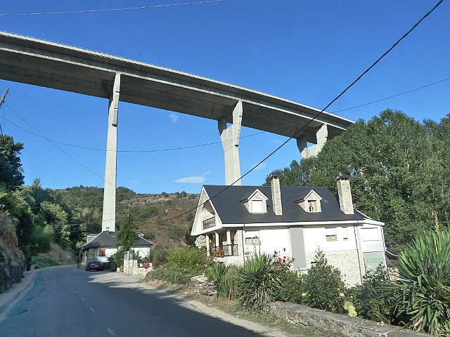 Fly over over the top of the village