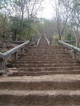 Steps up to the top