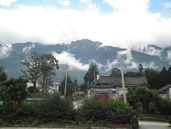 Clearing but cloud in the mountains