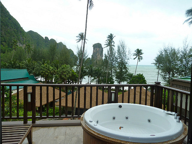 View from spa balcony