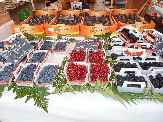 Fresh fruits for sale in the local markets