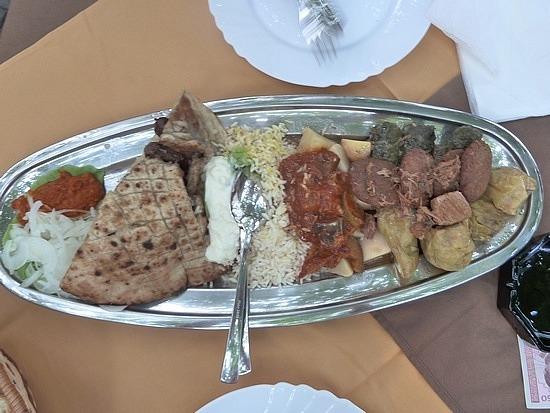 Our shared Bosnian dinner