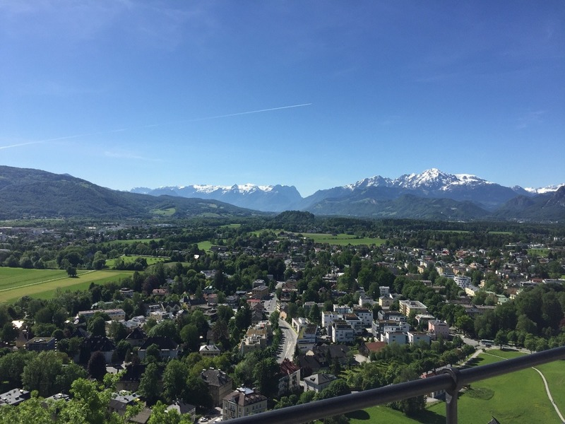 View from the Fortress to the alps