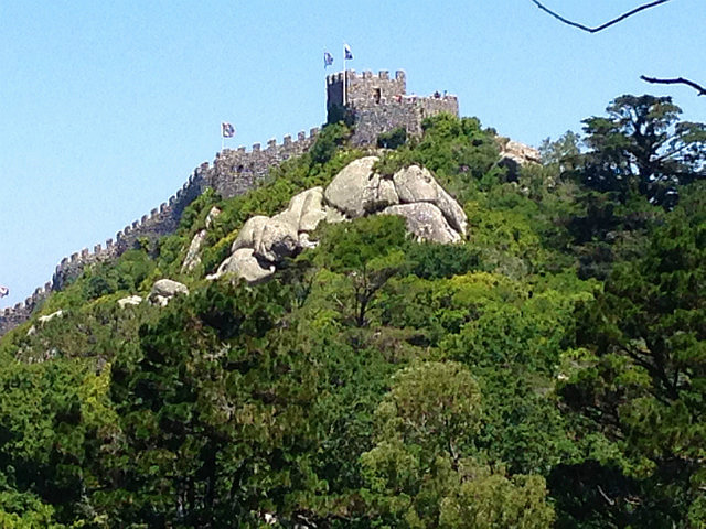 View to Moorish Castle over the hill