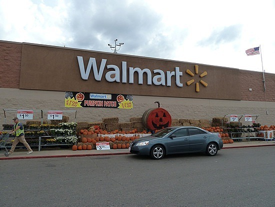 Walmart decorated for halloween