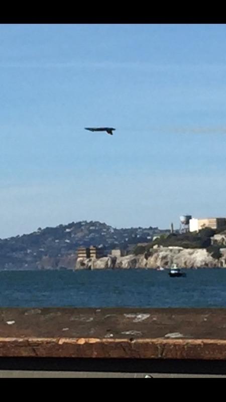 Upside down past Alcatraz