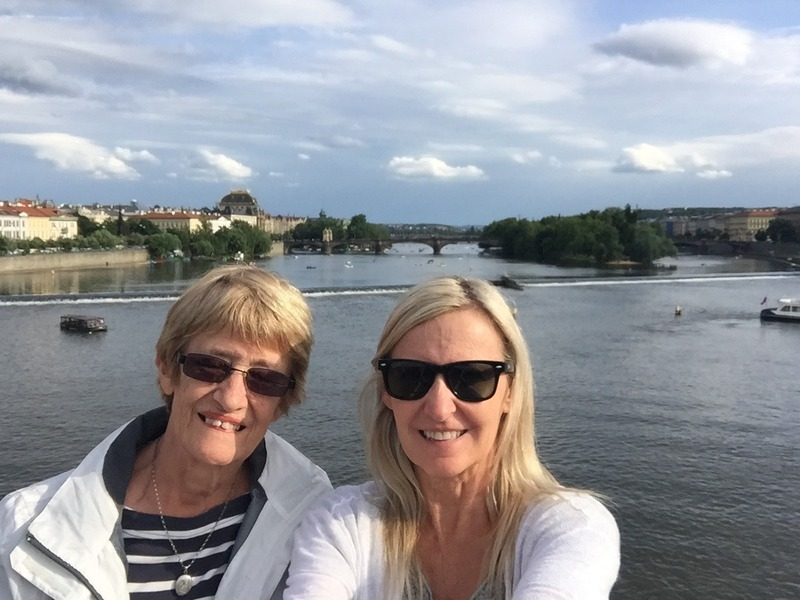 Mum and I  on Charles Bridge