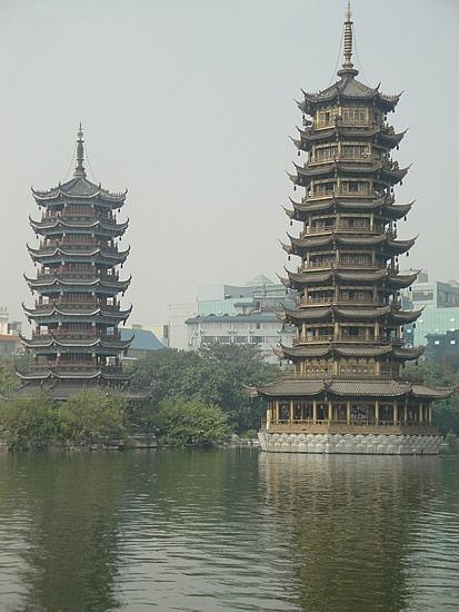 Lake pagodas