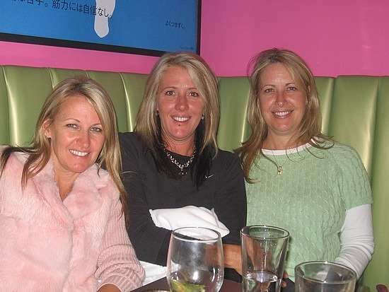 Leigh , Lara & I out to dinner