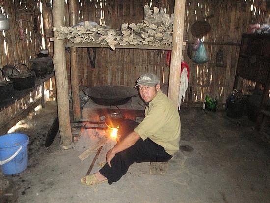 Kitchen of village home