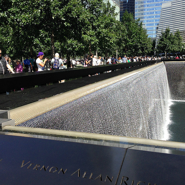 World Trade Memorial site and waterfall pools