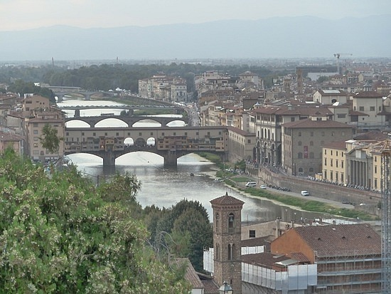 View of the towns bridges