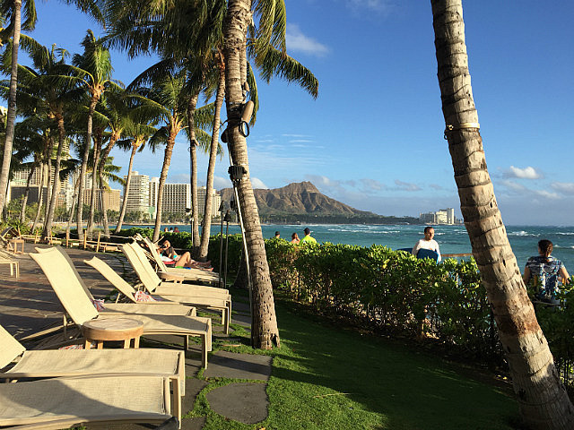 View to Damond Head from Waikiki