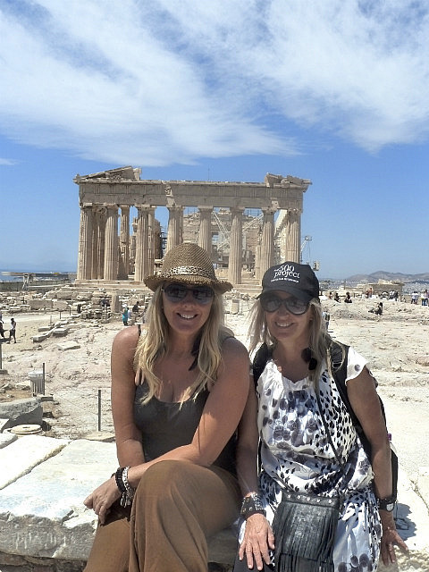 Leigh & I in front of the Parthenon