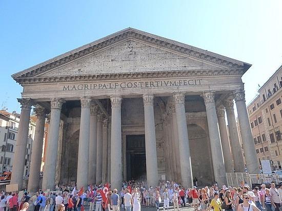 Pantheon with name of Agrippa