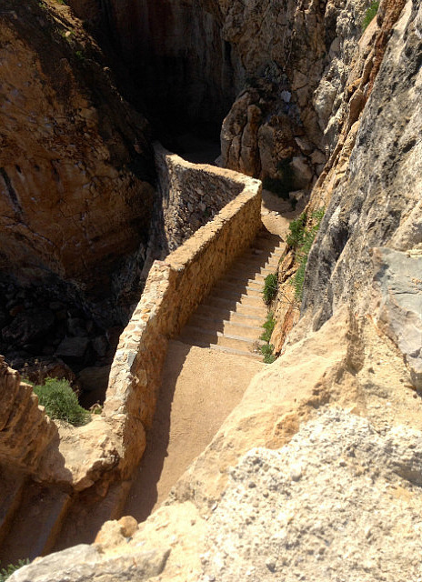 Staircase down the cliffs & of course I went down