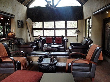 Inside lodge lounge