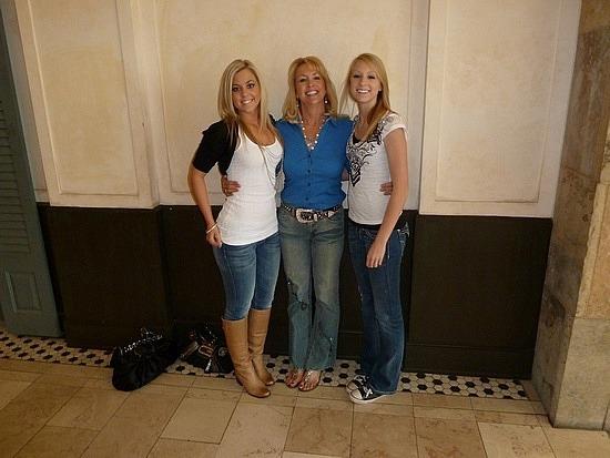 Cheryl with her girls