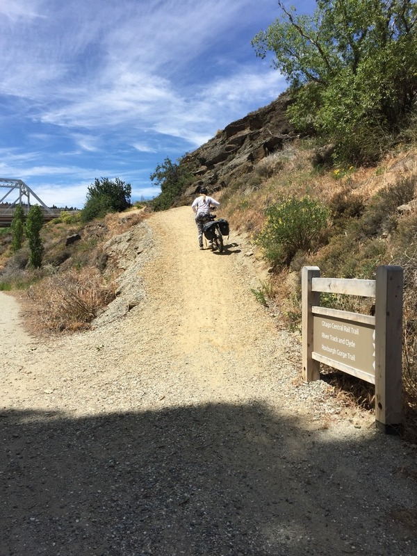 We were flat out pushing our bikes up here