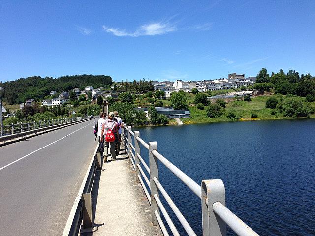 Crossing into Portomarin