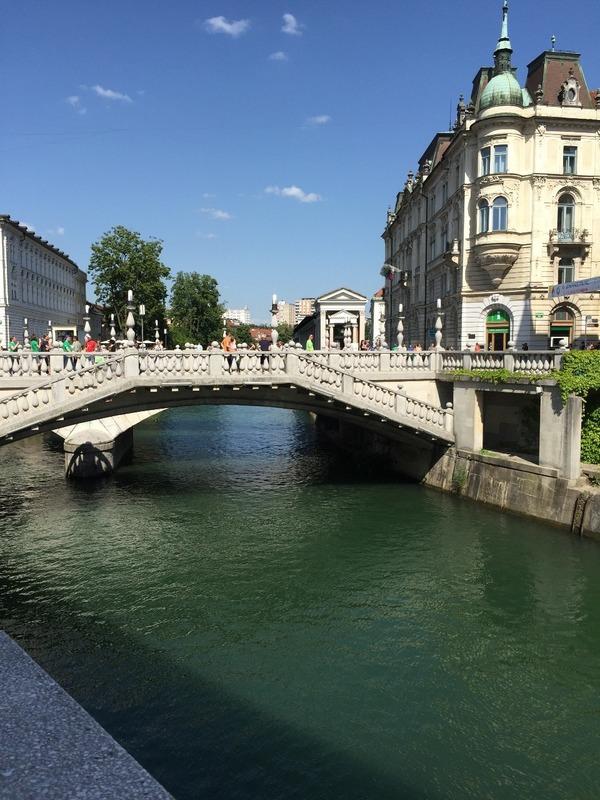 The triple bridge in Ljubjliana