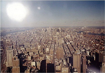 View from world Trade Towers back to Empire state