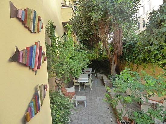 Garden at hostel
