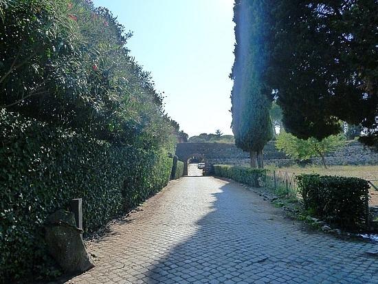Cobblestones of this ancient road