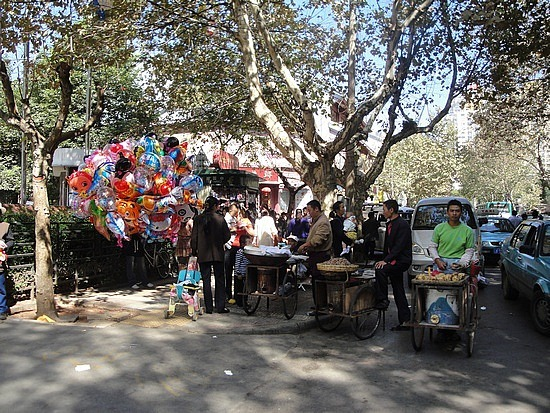 Balloon seller in local street