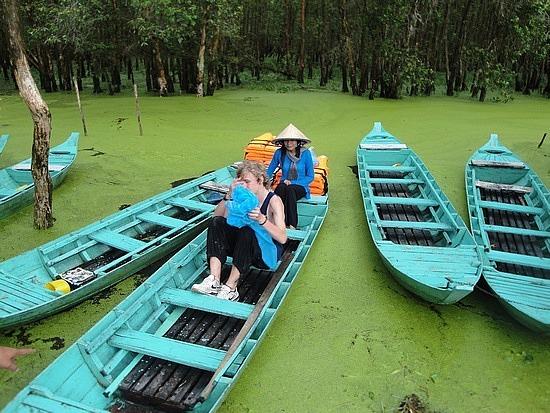 Boat ride in bird sanctuary