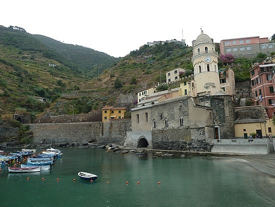 Harbour and church