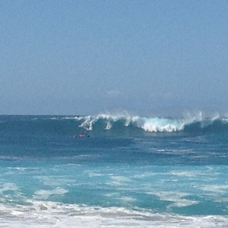 Big waves at the point