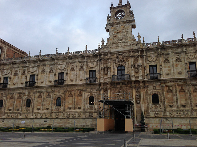 Parador Hotel on the camino trail out of town