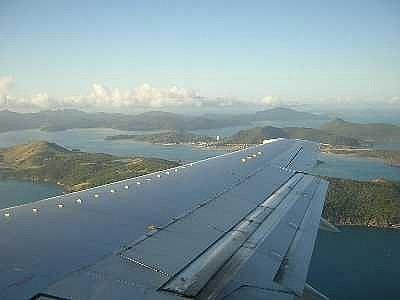 Flying into Hamilton