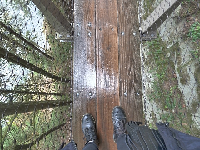 Looking down to my feet & beyond!
