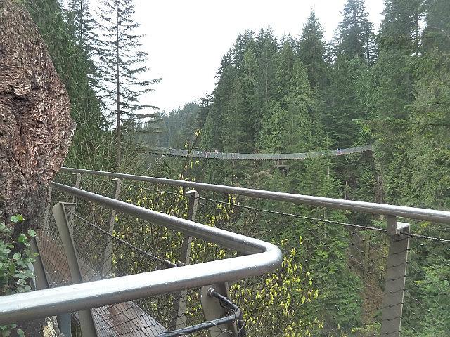 Cliffwalk looking back to bridge