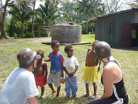 Some village children