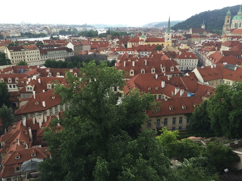 Red rooves of Prague